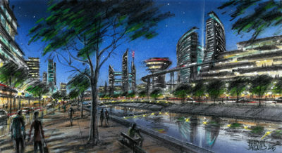 AI29 Urban Concept – Night View