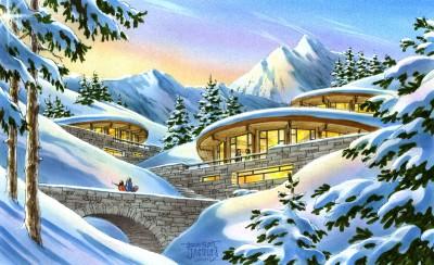 AT19 Village Touristique en Montagne – Concept Écologique