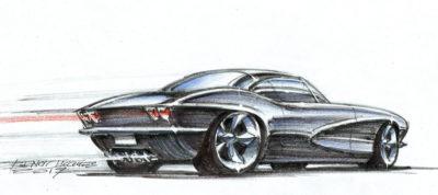 DA32 Black Corvette