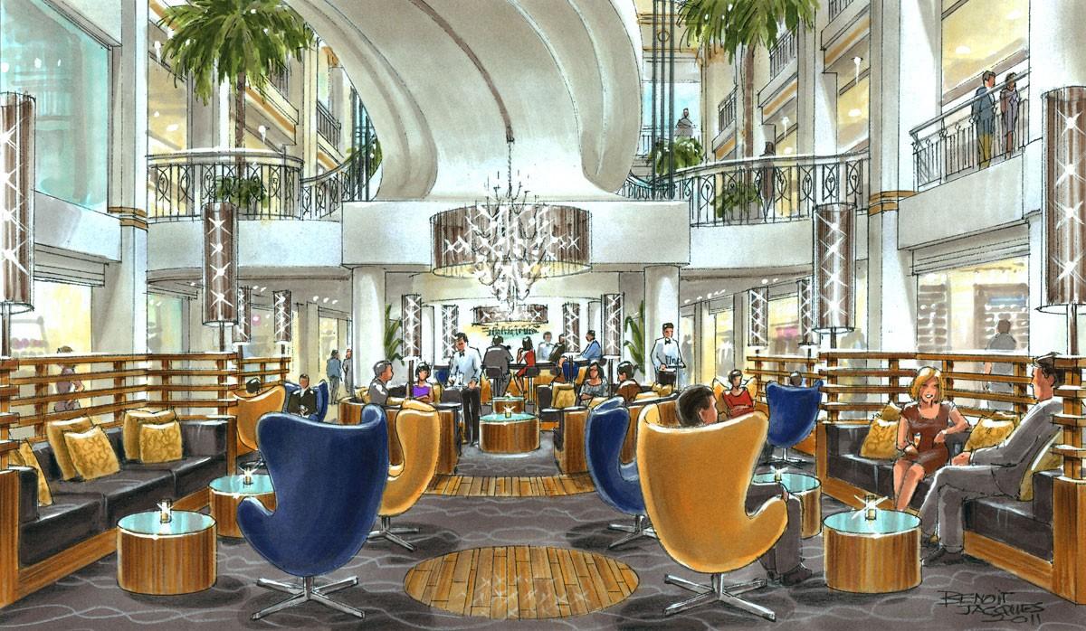 Di23 les cours mont royal lounge bar benoit jacques for Cours design interieur montreal